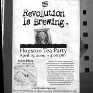 Houston Tea Party - Downtown, Jones Plaza - April 15, 2009... Click to enlarge
